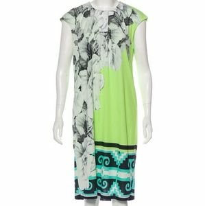 Roberto Cavalli Floral Abstract Jersey Dress